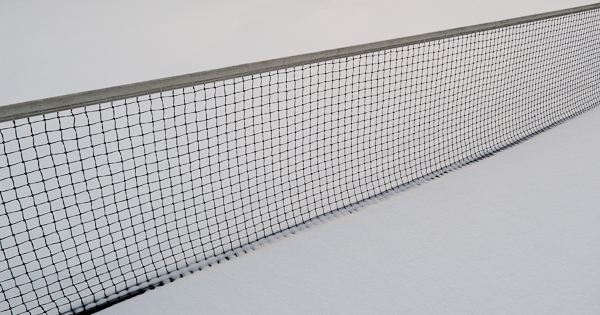 Tennis Court Net, Pangborn Park, Hagerstown, Maryland, January 2