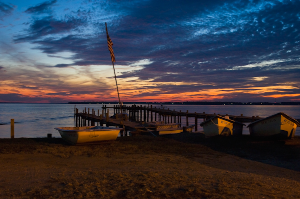 Sunset, Wicomico River Landing at Bushwood, Maryland, November 2