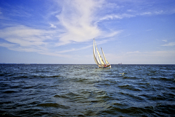Sailing South of Annapolis, Chesapeake Bay, Maryland, July 1999
