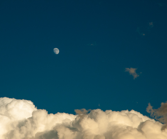 Clouds and a Moon, Hunter Hill, December 1, 2006