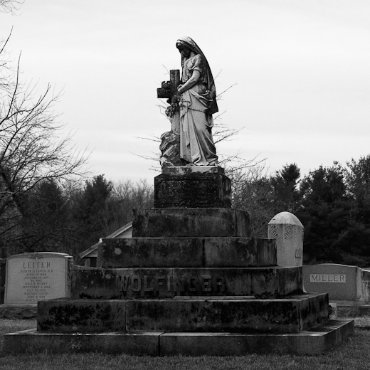 Monument, St. Paul's Lutheran Cemetery, Leitersburg, Maryland, D