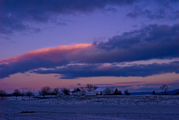 Dusk, Washington County, Maryland, January 1, 2010