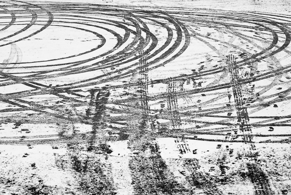 Tracks, Parking Lot, Museum of Fine Arts, Hagerstown, Maryland,