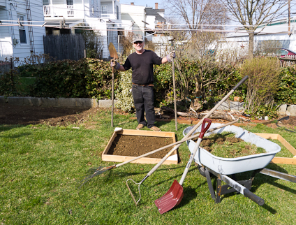 Adding Worms To Gardening Frame, Trumpower's Garden, Hagerstown,