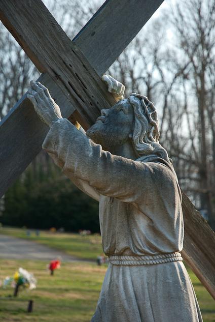 Statuary, Augusta Memorial Park, Waynesboro, Virginia, April 9,