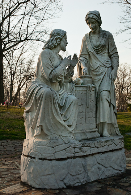 Statuary, Augusta Memorial Park, Waynesboro, Virginia, April 9,