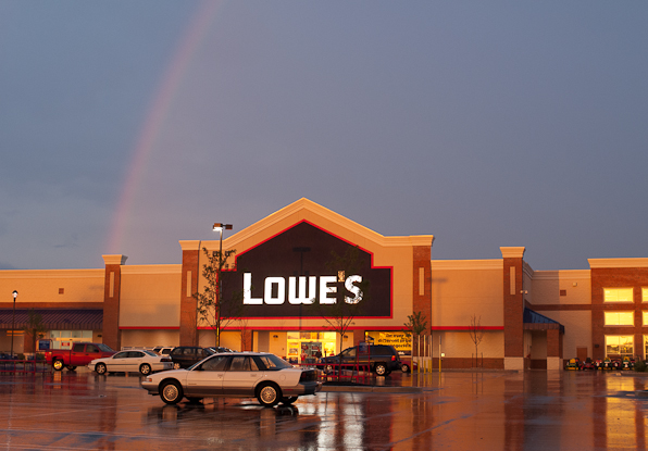 Rainbow Over Lowe's, Hagerstown, Maryland, July 23, 2008