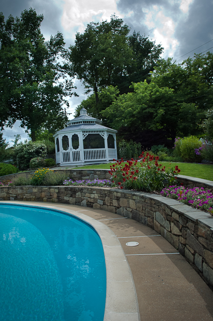 Pool, Garden, Gazebo, Private Garden, Hagerstown, Maryland, July