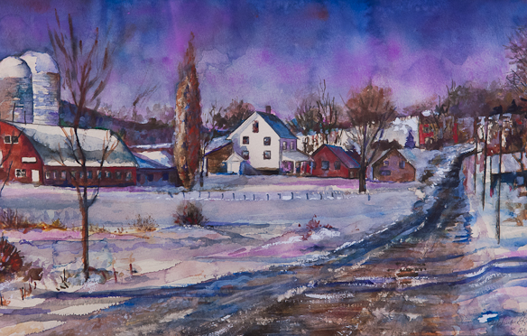 Near Randolph Vermond, Watercolor, March 19, 1991