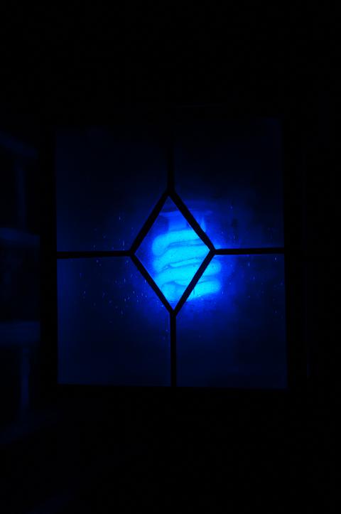 Blue Lantern, Artistu0027s Porch, 2 A.m., November Night, Hagerstown, Maryland,  November 18, 2013.